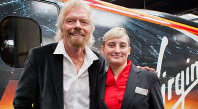 Richard Branson and Tammy Moreton