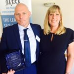 Ward Security's Thomas Atley and Joanne Holloway of ADM UK