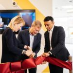 Left to Right: Bodil Sonesson, Martin Gren and Atul Rajput officially open the new Experience Centre