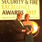 Tony Maskens picks up the Ian Marsh Fire Award