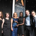 The team from Land Securities Group plc with (far right) presenter Dominic Holland