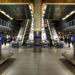 Canary Wharf Station in the heart of London's Docklands