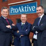 Left to Right: Andy Morley and Ian Laycock from ProAktive Risk Group who led the MBO pictured with Jonathan Craig from Mercia Fund Managers