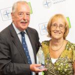 Andrew Nicholls MSyI accepts the George van Schalkwyk Award from Baroness Ruth Henig CBE
