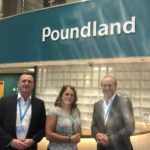 Left to right: Andrew Cockerill (Lodge Security), Sarah Frain (Poundland) and Stuart Lodge (Lodge Security)