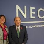 National Crime Agency director general Lynne Owens and Security Minister Ben Wallace