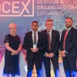 Left to Right: Tina Hughes, Iqbal Azad, Mick Creedon QPM and Nick Downing at the Keith Hughes Awards