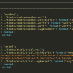 Figure 2: CSS @font-face rule from the phishing landing page source code