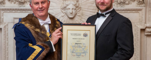 Mike Barley (left), Master of The Worshipful Company of Security Professionals, and Detective Sergeant Joby Reeve