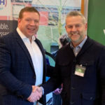 Dean Kernot of Vista CCTV and Nick Fisher (CEO of Facewatch) announce the new partnership